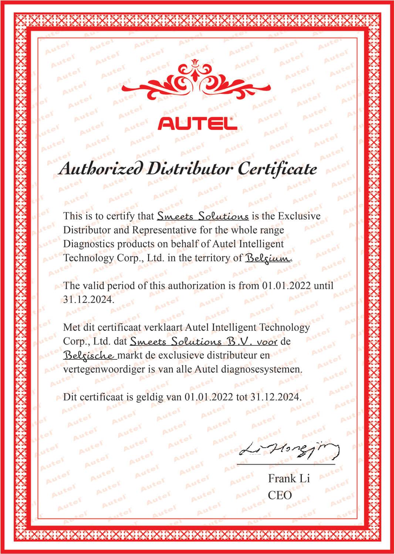 Autel-certificaat-distributeur-Belgie